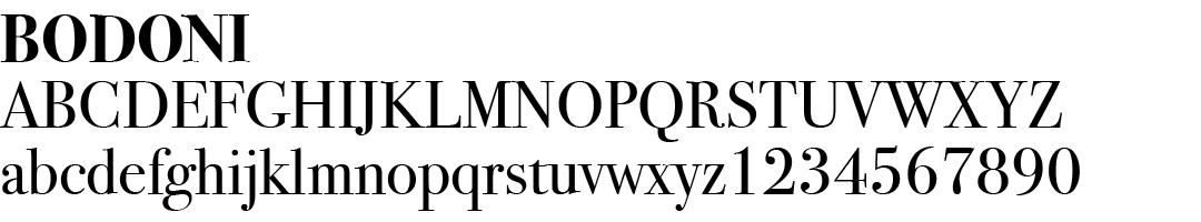 12 best fonts for design - Bodoni