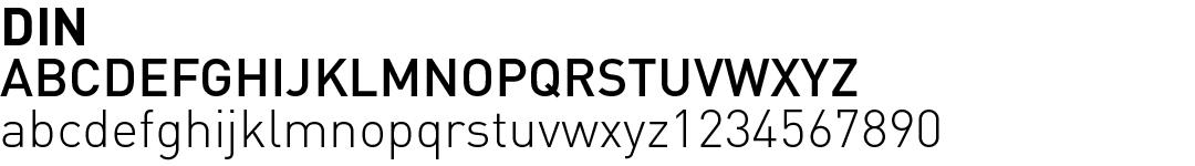 12 best fonts for design - DIN