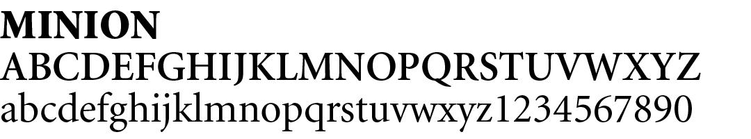 12 best fonts for design - Minion