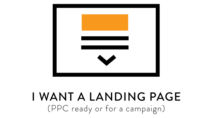I want a landing page